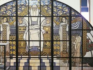 Cardboard Model of the Stained-Glass Window, Paradise by Koloman Moser