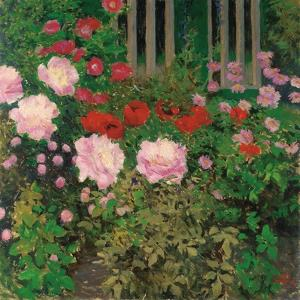 Flowers and Garden Fence by Koloman Moser