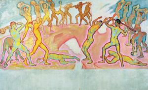 The Clash of the Titans, 1913-15 by Koloman Moser