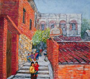 Grandparents and Children by Komi Chen