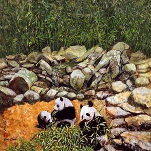Happy Family (Pandas) 1993 by Komi Chen
