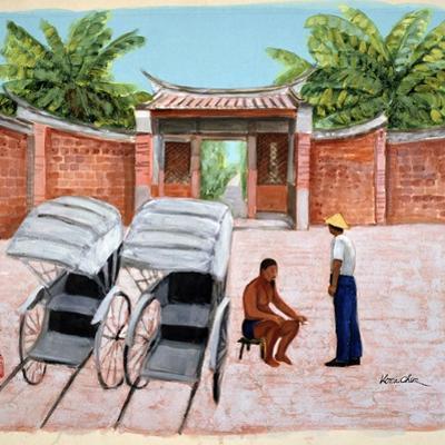 Taking a Rest, 1990 by Komi Chen