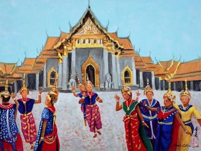 Traditional Thai Dance, 1990 by Komi Chen