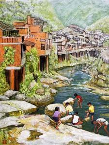 Village by the River, 1992 by Komi Chen