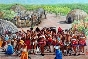 Zulu Celebration, 1989 by Komi Chen