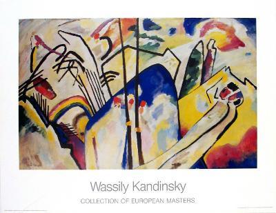 Komposition 4 ,1939-Wassily Kandinsky-Art Print