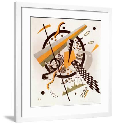 Komposition mit Schachbrettstreifen, 1922-Wassily Kandinsky-Framed Art Print