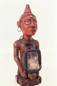 Kongo Kneeling Nkisi Figure, Lower Congo, Central Africa, Pre 1889