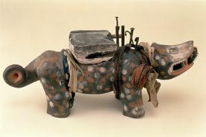 Kongo Nkisi, Animal Figure with Nails, Lower Congo, Central Africa, Pre 1889