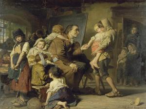 Pestalozzi Bei Den Waisenkindern in Stans, 1879 by Konrad Grob
