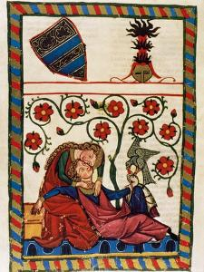 Konrad Von Altstetten, Swiss Ministerial Rests with His Beloved after a Whipped Hunting. Fol.…