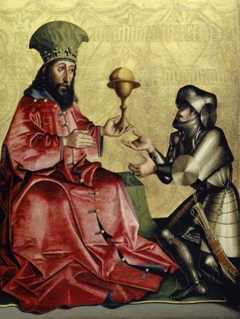 Abraham before Melchizedek from the Heilspiegel Altarpiece, c.1435