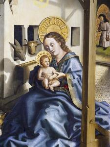 Madonna and Child, Detail from the Adoration of the Magi, 1444 by Konrad Witz