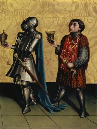 Sibbecai and Benaiah from the Heilspiegel Altarpiece, c.1435