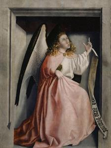 The Angel of the Annunciation from the Heilspiegel Altarpiece, c.1435 by Konrad Witz