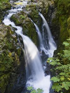 Waterfalls of Sol Duc River, Olympic National Park, Washington by Konrad Wothe