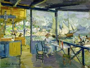 A Cafe in Gursuph, 1914 by Konstantin A. Korovin