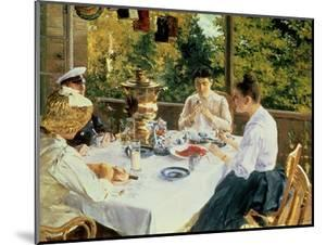 At the Tea-Table, 1888 by Konstantin A. Korovin