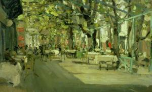 Cafe in Yalta, 1905 by Konstantin A. Korovin