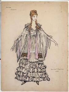Costume For Violette in La Traviata, 1935 by Konstantin A. Korovin