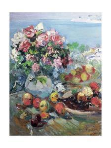 Flowers, Gurzuf by Konstantin A. Korovin
