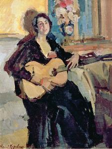 Lady with a Guitar, 1911 by Konstantin A. Korovin