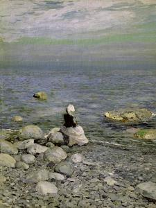 On the Shore of the Black Sea, 1890s by Konstantin A. Korovin