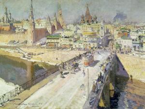 The Moskva River Bridge, 1914 by Konstantin A. Korovin