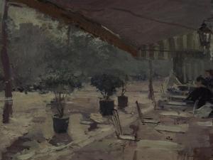 Café in Paris, 1890S by Konstantin Alexeyevich Korovin