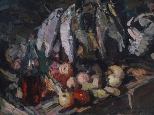 Fish, Vine and Fruits, 1916 by Konstantin Alexeyevich Korovin