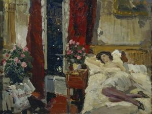 In the Room by Konstantin Alexeyevich Korovin
