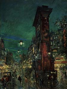 Paris, Porte Saint-Denis, 1923-1939 by Konstantin Alexeyevich Korovin
