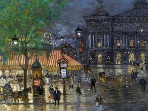 Place De L'Opéra, Paris by Konstantin Alexeyevich Korovin