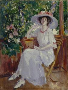 Portrait of the Actress Nadezhda Komarovskaya by Konstantin Alexeyevich Korovin