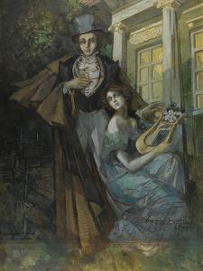Pushkin and the Muse by Konstantin Alexeyevich Korovin