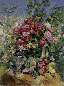 Roses, 1917 by Konstantin Alexeyevich Korovin
