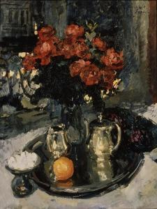 Roses and Violets, 1912 by Konstantin Alexeyevich Korovin