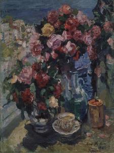 Roses, Gurzuf, 1916 by Konstantin Alexeyevich Korovin