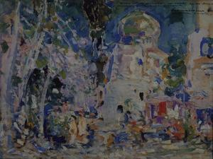 Stage Design for the Ballet the Scarlet Pimpernel by F. Hartman, 1911 by Konstantin Alexeyevich Korovin