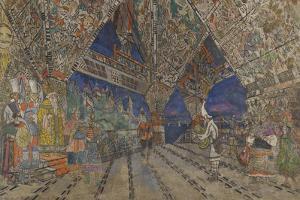 Stage Design for the Opera the Golden Cockerel by N. Rimsky-Korsakov by Konstantin Alexeyevich Korovin