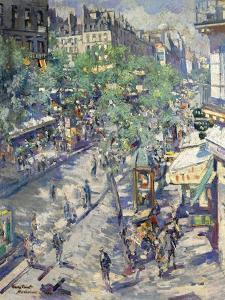 The Boulevard De Sébastopol in Paris, 1923 by Konstantin Alexeyevich Korovin