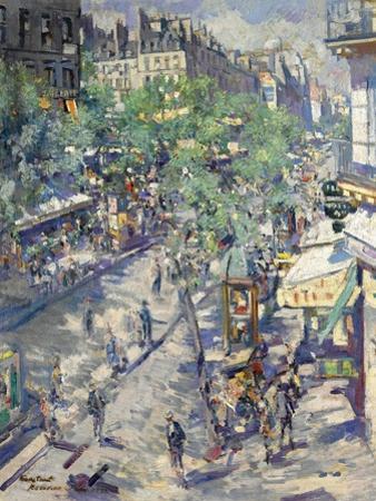 The Boulevard De Sébastopol in Paris, 1923
