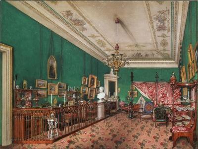 Interiors of the Winter Palace, the Bedroom of Grand Princess Maria Nikolayevna, 1837