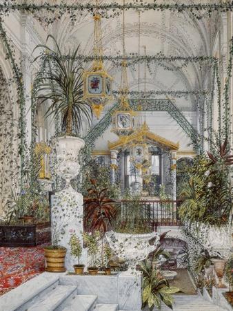 Interiors of the Winter Palace, the Winter Garden of Empress Alexandra Fyodorovna, 1860S