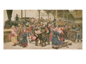 Departing for the War, 1888 by Konstantin Apollonovich Savitsky
