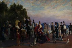 On the Spit of Island (Strelk), 1870S by Konstantin Apollonovich Savitsky
