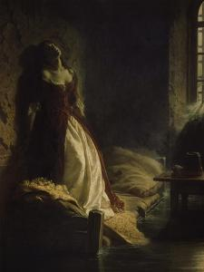 Princess Tarakanov in the Dungeon, 1776. Painted in 1864 by Konstantin Dimitr Flawitzky