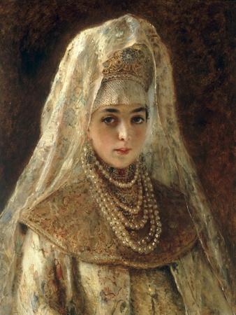 A Girl in a Boyar Costume
