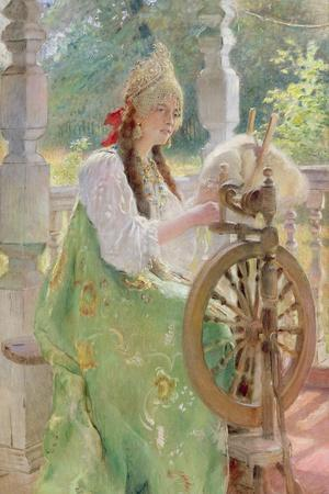 At the Spinning-Wheel