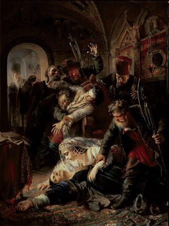 Hired Assassins Killing Tzar Boris Fyodorevich Godunov's Son, 1862